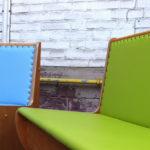 Neu gepolsterte Stühle